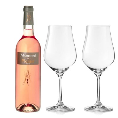 Moment de Plaisir Cinsault Rose And Crystal Classic Collection Wine Glasses