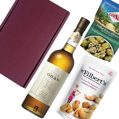 Oban 14 Year Old Single Malt Scotch Whisky Nibbles Hamper