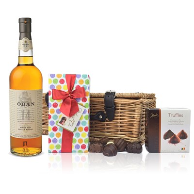 Send Oban 14 Year Old Whisky and Chocolates Hamper Online