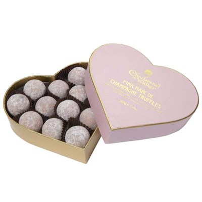 Send Charbonnel - Pink Marc de Champagne Truffle Heart And#40;200gAnd#41;