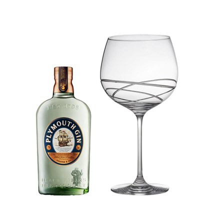 Plymouth Gin 70cl And Single Gin and Tonic Skye Copa Glass