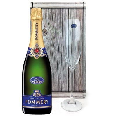 Pommery Brut Royal Champagne 75cl, Flute And Chocolates Gift box