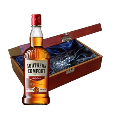 Southern Comfort In Luxury Box With Royal Scot Glass