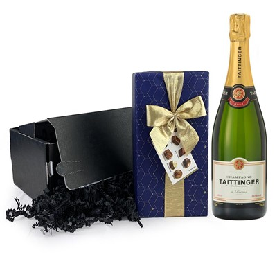 Taittinger Brut Champagne 75cl And Chocolates Gift Carton