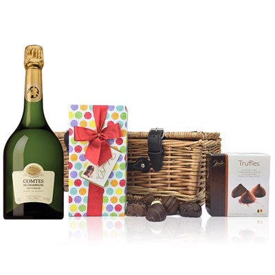 Taittinger Comtes de Champagne 2006 And Chocolates Hamper