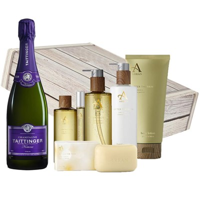 Taittinger Nocturne NV Champagne, 75cl And After the Rain Aromatherapy Gift Box