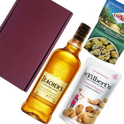 Teachers Highland Cream Whisky Nibbles Hamper