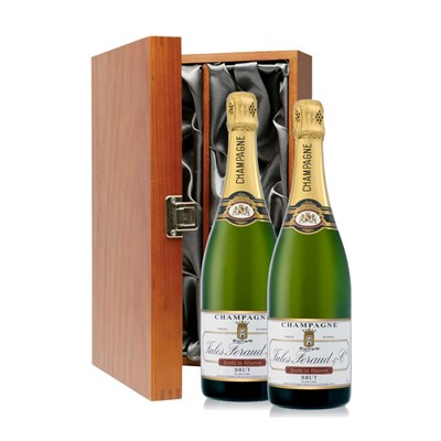2 x Masse Brut Double Luxury Gift Boxed Champagne