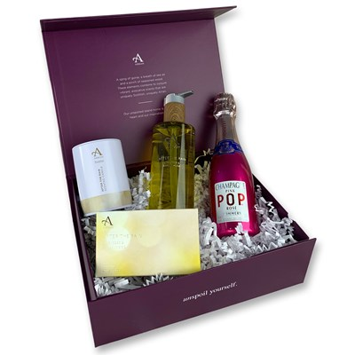 Small After The Rain Gift Set with Pink Pop Champagne 20cl