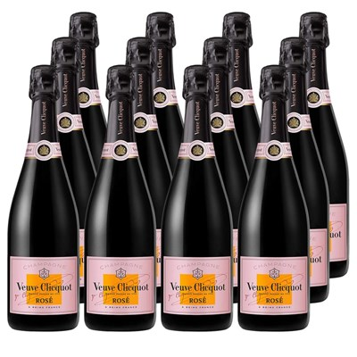 Veuve Clicquot Rose Label 75cl Crate of 12 Champagne