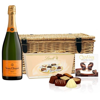 Veuve Clicquot Yellow Label Brut Champagne 75cl And Chocolates Hamper