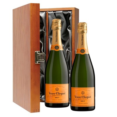 Veuve Clicquot Yellow Label Brut Champagne 75cl Double Luxury Gift Boxed Champagne