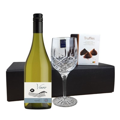 Vinoir Chardonnay - Chile, Flute And Chocolate Gift box