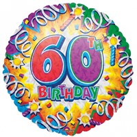 Happy 60th Birthday Helium Balloon