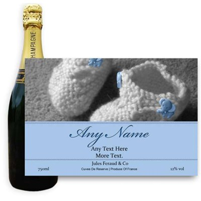 Jules Feraud Brut With Personalised Champagne Label Baby Boy