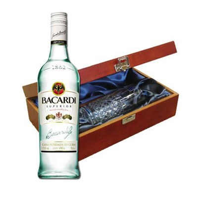 Send Bacardi Rum In Luxury Box With Royal Scot Glass Online