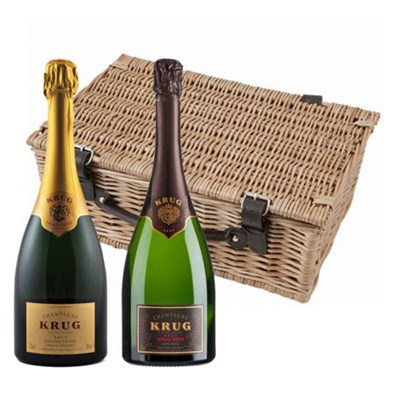 Send Krug Grande Cuvee and Vintage 2003 Twin Hamper
