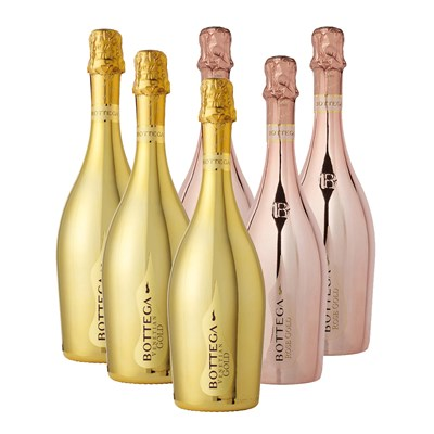 Bottega Gold And Rose Gold Prosecco Case of Six