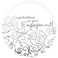 Congratulations on Your Engagement Helium Balloon