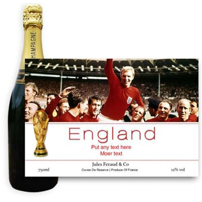 Jules Feraud Brut With Personalised Champagne Label Football