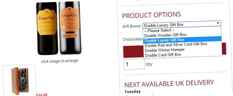 wine and chocolates bannder