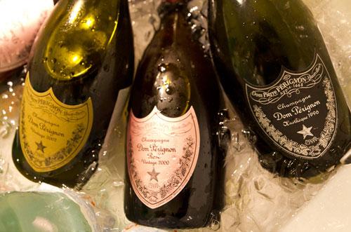Dom Perignon bottles