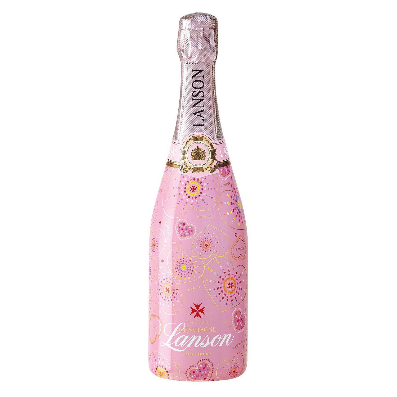 send lanson rose label 75cl pink coated champagne gift gift online. Black Bedroom Furniture Sets. Home Design Ideas