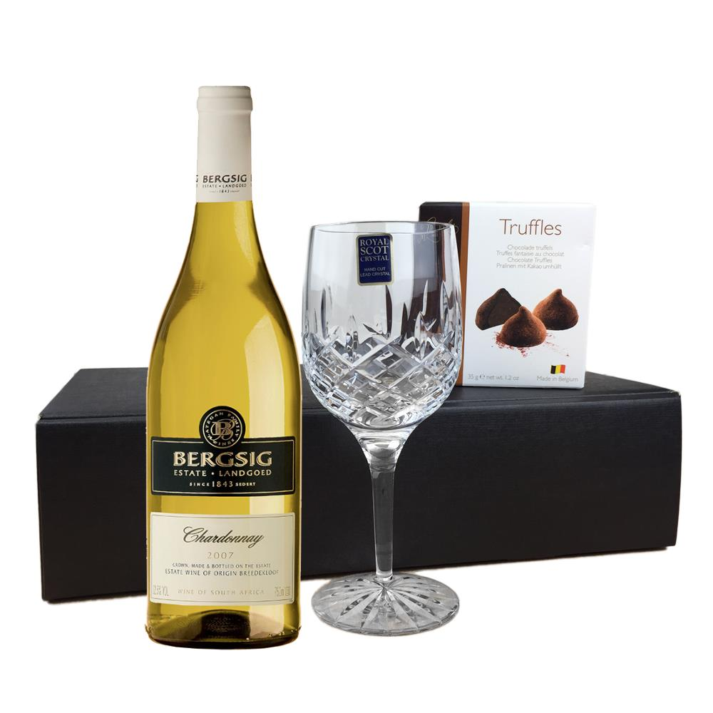 Chocolate Gift Boxes South Africa : Bergsig estate chardonnay south africa flute and