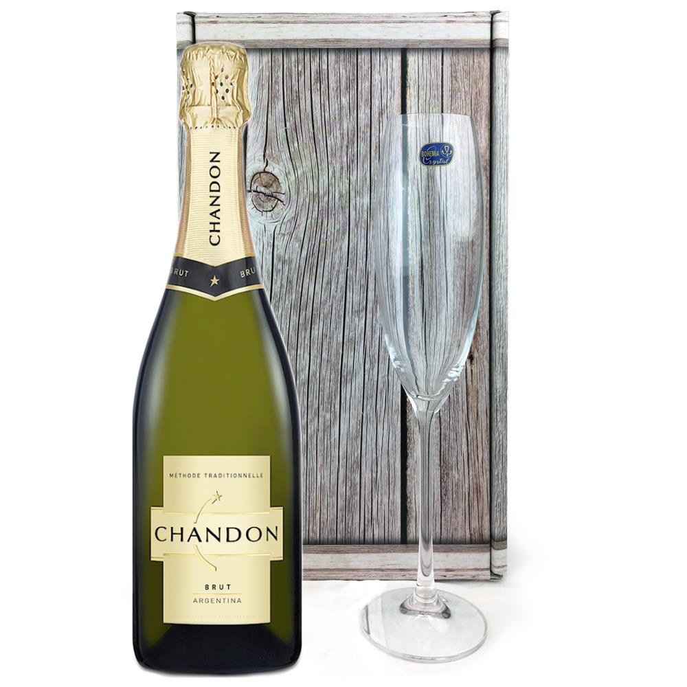 Chandon Brut Sparkling Wine 75cl, Flute And Chocolates