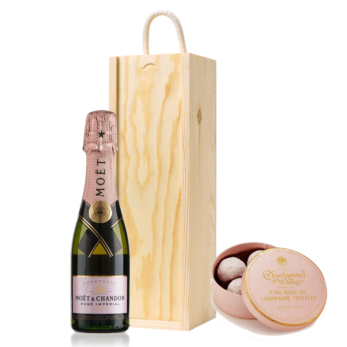 06726d0aab2 Moet and Chandon Rose 20cl   Charbonnel Pink Champagne Truffles Mini ...