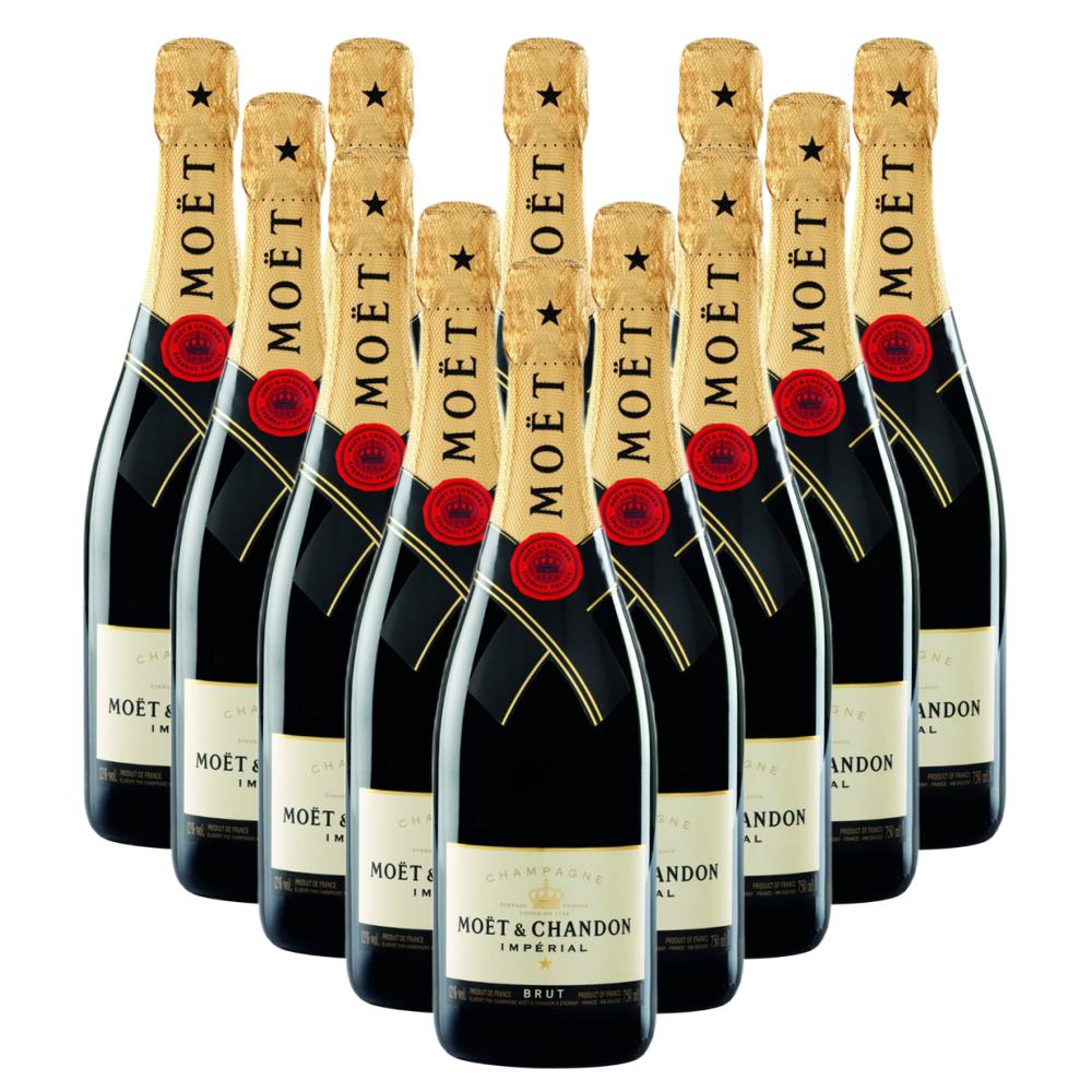Moet & Chandon Brut Imperial Champagne Bottle - In Moet Gift Box Crate of 12 Champagne
