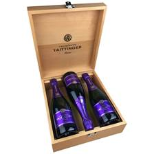 Buy & Send 3 x Taittinger Nocturne NV 75cl Champagne in Taittinger Treble Gift Box