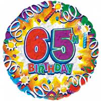Buy & Send Happy 65th Birthday Helium Balloon