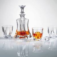 Buy & Send Bohemia Floral Crystal Decanter Set with 4 Matching Floral Glasses