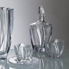 Buy & Send Bohemia Neptune Crystal Decanter Set with 6 Neptune Glasses