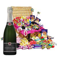 Buy & Send Chassenay d'Arce Brut and Classic Retro Sweet Hamper