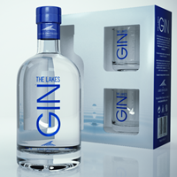 Buy & Send The Lakes Gin Gift Pack with Glasses