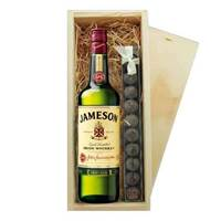 Buy & Send Jameson Irish Whisky & Truffles Wooden Box