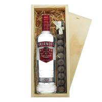 Buy & Send Smirnoff Red Vodka & Truffles Wooden Box