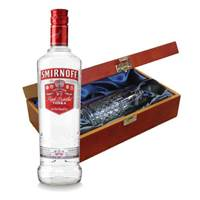 Buy & Send Smirnoff Red Vodka In Luxury Box With Royal Scot Glass