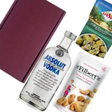 Buy & Send Absolut Blue Vodka Nibbles Hamper