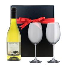Buy & Send Afrikan Ridge Chenin Blanc And Bohemia Glasses In A Gift Box