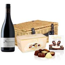 Buy & Send Archangel Pinot Noir 75cl And Heart Chocolates Hamper