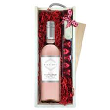 Buy & Send Belfiore Pinot Grigio Blush - Italy & Heart Truffles, Wooden Box
