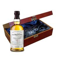 Buy & Send Balvenie Caribbean Cask 14 YO In Luxury Box With Royal Scot Glass
