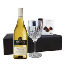 Buy & Send Bergsig Estate Chardonnay - South Africa, Flute And Chocolate Gift box