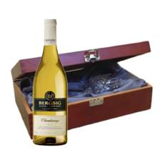 Buy & Send Bergsig Estate Chardonnay - South Africa In Luxury Box With Royal Scot Wine Glass
