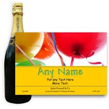 Buy & Send Jules Feraud Brut With Personalised Champagne Label Birthday Balloons