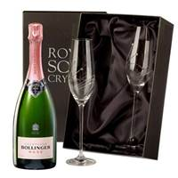 Buy & Send Bollinger Rose Champagne with Swarovski Crystal Flutes