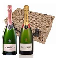 Buy & Send Bollinger Brut and Rose Twin Hamper